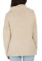 Passionknit - Chunky Fluffy Drop-shoulder Jumper Cream