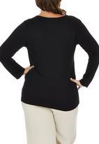 edit Plus - Basic Long Sleeve T-shirt Black