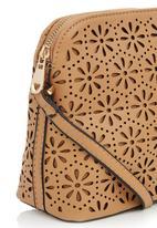 Joy Collectables - Laser Cut Flower Sling Bag Neutral