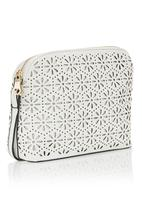 Joy Collectables - Laser Cut Flower Sling Bag Milk