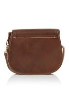 Joy Collectables - Leather Sling Bag Dark Brown