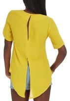 c(inch) - Open Back Blouse Yellow