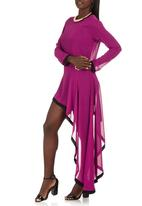 TART - Long Sleeve Side Mullet Dress Magenta