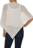 JUST CRUIZIN - Rib Knit Poncho Stone/Beige
