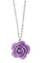 Jewels and Lace - Lilac Rose Pendant Necklace Pale Purple