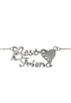 Jewels and Lace - Best Friends Pendant Necklace Silver