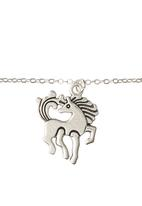 Jewels and Lace - Horse Pendant Necklace Silver