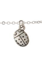 Jewels and Lace - Ladybug Pendant Necklace Silver