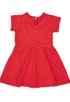 Luke & Lola - Printed Jersey Dress Red