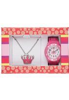 Cool Kids - Necklace & Sunglass Set Mid Pink