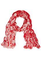 Joy Collectables - Umbrella Printed Scarf Red