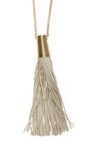 Joy Collectables - Long Necklace with Tassel Detail Neutral