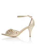 Sollé - Ankle Strap Peep Toe Heels Gold