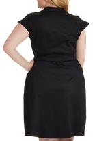 edit Plus - Structured Wrap Dress Black