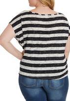 STYLE REPUBLIC PLUS - Drape T-shirt Black and White