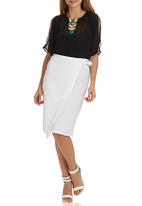 STYLE REPUBLIC - D-ring Midi Skirt White