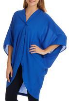 edit - Kimono Blouse Cobalt