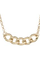 c(inch) - Thick Chain Necklace Gold