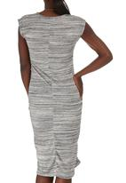 edit Maternity - Drape Bodycon Dress Grey