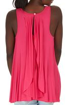 edit Maternity - Waterfall Back Top Mid Pink