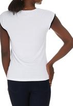 edit Maternity - Gauged Contrast T-shirt Black and White