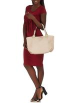 Marie Claire - Paneled Tote Bag Neutral