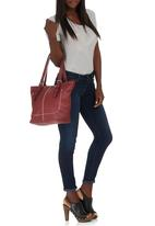 Marie Claire - Stitch Detail Handbag Red