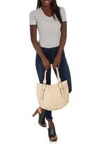 Marie Claire - Rounded Handbag with Strap and Buckle Detail Neutral