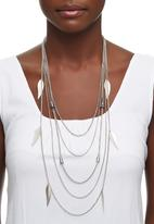 Joy Collectables - Multi-Chain Charm Necklace Silver