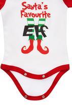 Funky Shop - Santas Elf Babygrow Multi-colour