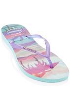 Havaianas - Slim Paisage Havaiana Flip Flops Mid Blue