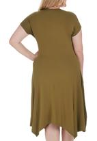 STYLE REPUBLIC PLUS - Hanky Hem Tunic Mid Green