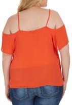 STYLE REPUBLIC PLUS - Cold Shoulder Cami Orange