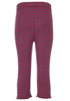 Eco Punk - Striped Leggings Dark Purple