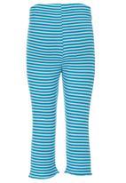 Eco Punk - Striped Leggings Mid Blue