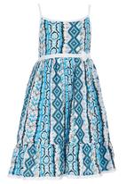 See-Saw - Cotton Sundress With Bow Multi-colour