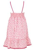 See-Saw - Cotton Sundress With Bow Mid Pink