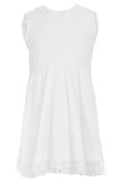 See-Saw - Mesh Dress with Lace Detail Milk