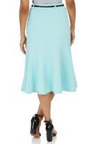 edit - Panel Midi Skirt Pale Blue