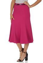 edit - Panel Midi Skirt Cerise Pink