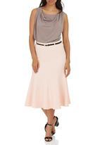edit - Panel Midi Skirt Pale Pink