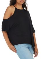 STYLE REPUBLIC - Asymmetrical T-shirt Black