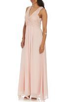 AX Paris - Lace Top Maxi Dress Neutral