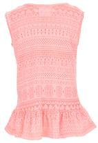 See-Saw - Sleeveless Peplum Top Mid Pink