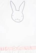 Luke & Lola - Bunny Embroidery Dress White