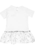Luke & Lola - Bunny Embroidery Print Dress White