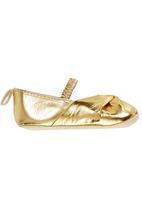Tyttöni - Metalic Headband & Shoe Set Gold