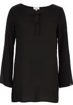 edit - Bell Sleeve Tunic Black