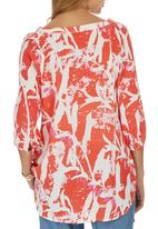 G Couture - Printed Tunic Top Red