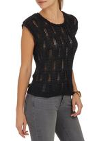 STYLE REPUBLIC - Knit Pull-over Cami Black